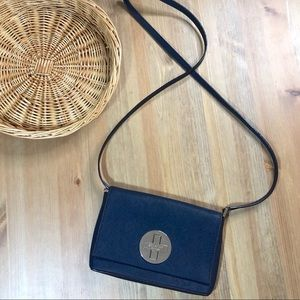 Kate Spade Cross Body Navy Silver Hardware